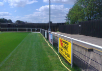 Spectator barrier for use on football and rugby pitches.   Horse racing barrier and animal fencing. Portable enclosure fencing.